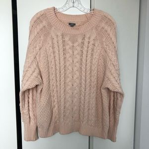 Aerie Blush Pink Chunky Knit Sweater
